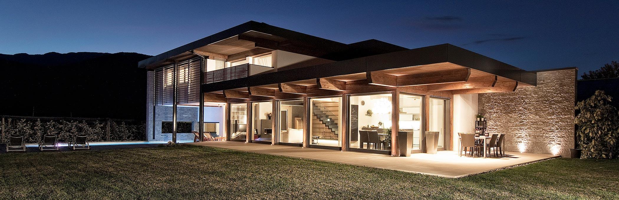 Casa di legno sostenibilit e risparmio bioecogeo - Costruire casa in legno costi ...