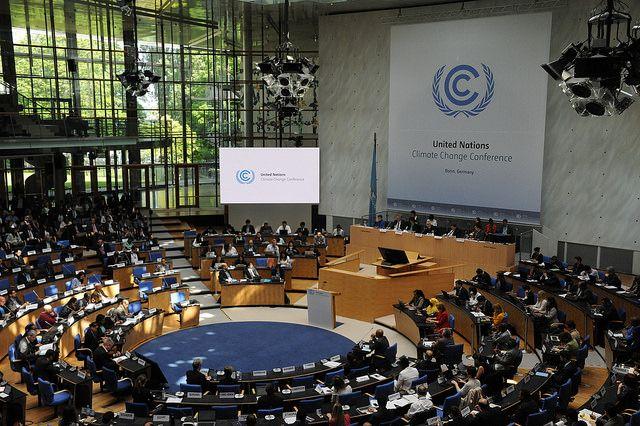 La sala del summit sul Clima di Bonn. Prossimo appuntamento: Ottobre
