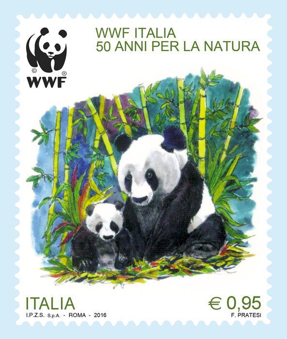 Ambiente: il WWF Italia ha 50 anni, lo ricorda un francobollo