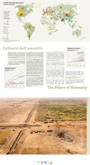 Uno dei pannelli della mostra FOOD4 - Geografie del Cibo