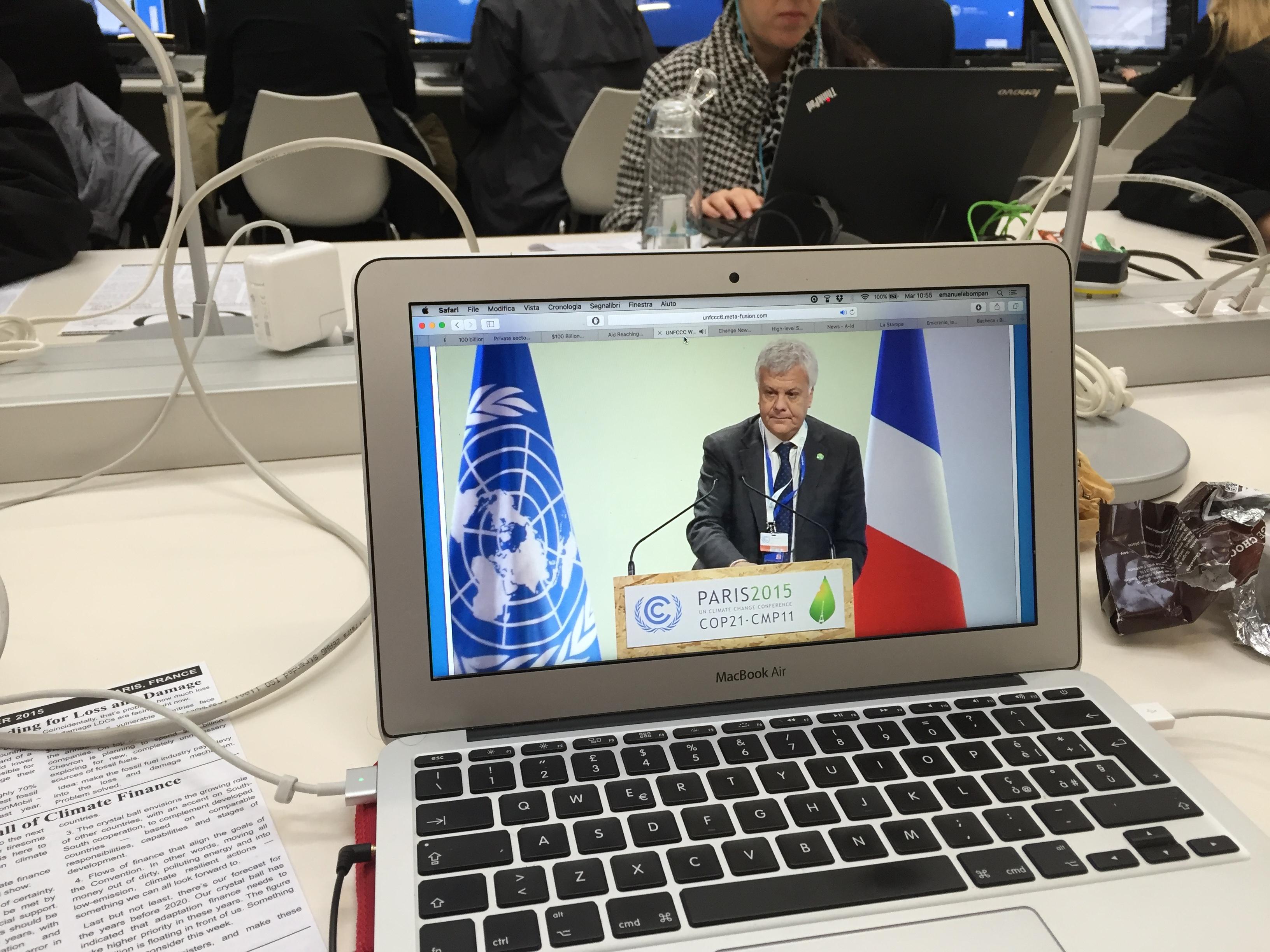 Ministo Galletti a COP21