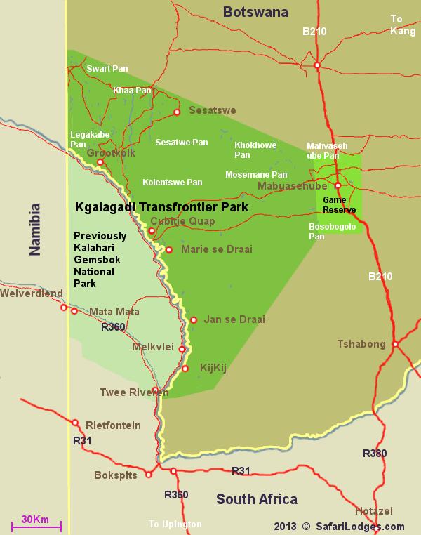 BioEcoGeo_Kgalagadi Transfrontier Park Map