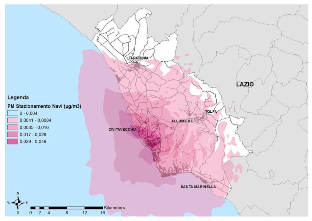 BioEcoGeo_Concentrazioni medie annue al suolo di PM10