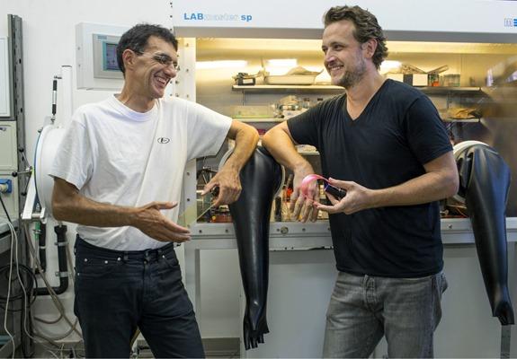 Da sinistra: Francesco Meinardi e Sergio Brovelli, professori all'Università di Milano-Bicocca
