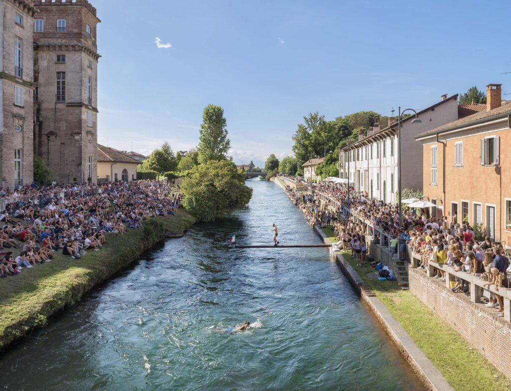 Robecco sul Naviglio (MI), Settembre 2017: Festa della Cuccagna lungo il Naviglio Grande.