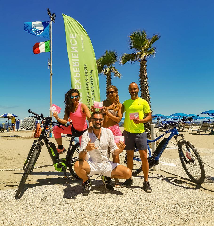 l'organizzatrice di eventi Simona Fabian, Mattia Casarin, Caterina Zanirato ed Enrico Canella (credit: Maurizio Penna)