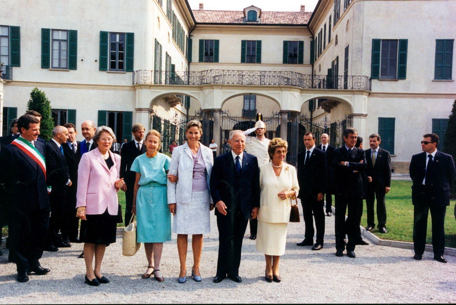 Giulia Maria Crespi al'inaugurazione di Villa e Collezione PanzaVarese